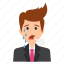 angry businessman, frustrated expressions, furious businessman, unhappy manager, work depression icon