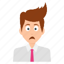 depressed businessman, exhausted businessman, job frustration, sad expressions, work depression icon