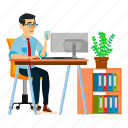 asian, business, businessman, china, office, people icon