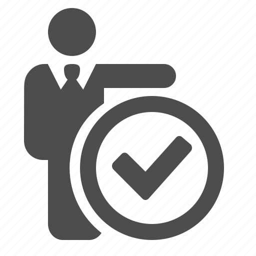 businessman, check sign, man, people, secure, verified icon