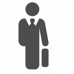 briefcase, businessman, man, meeting, suitcase icon