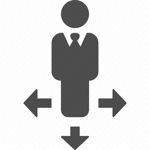 businessman, direction, directions, man, movement icon