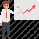 business analyst, data analyst, data scientist, finance analyst, strategic planning icon