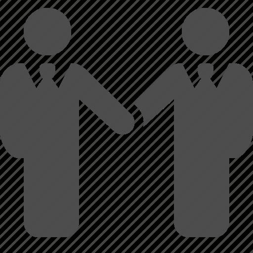 agreement, businessman, businessmen, deal, handshake, holding hands icon