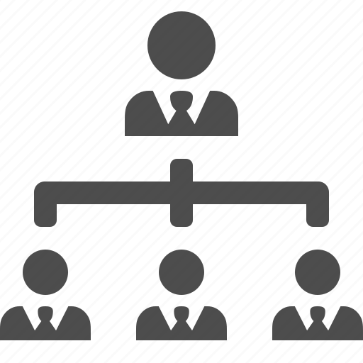 boss, businessman, hierarchy, man, manager, people, team icon