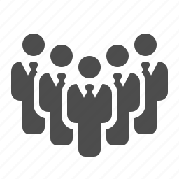 business, businessmen, crowd, group, leader, men, team icon