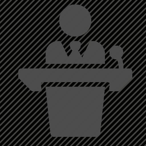 Public Speaker Icon Podium Public Speaker