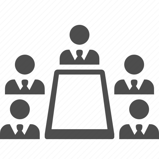 business, businessman, businessmen, conference, meeting, table, team icon