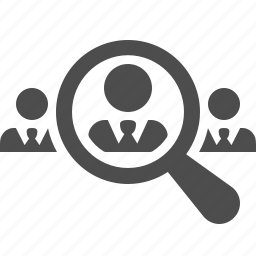 businessman, businessmen, magnifying glass, men, people, search, zoom icon