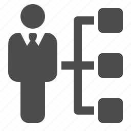 businessman, duties, hierarchy, man, responsabilities, resume icon