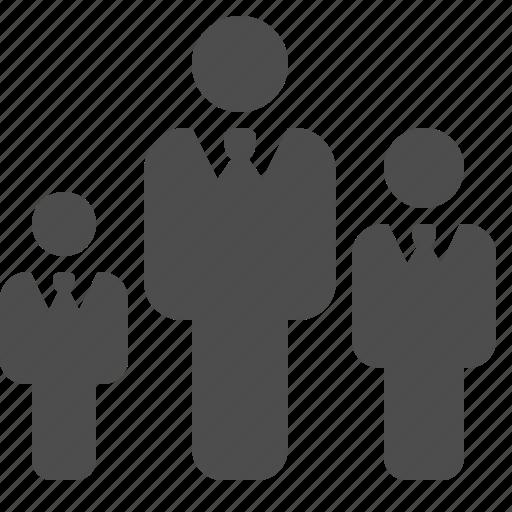 businessman, businessmen, hierarchy, rank, ranking, team icon
