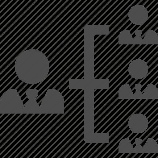 businessman, businessmen, hierarchy, leader, man, men, team icon