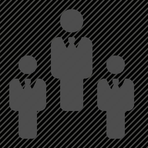 business, businessman, businessmen, hierarchy, man, men, team icon