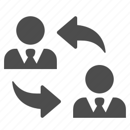 arrows, businessman, businessmen, change, exchange, men, rotate icon