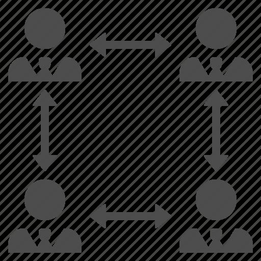 brainstorming, businessman, businessmen, men, team icon