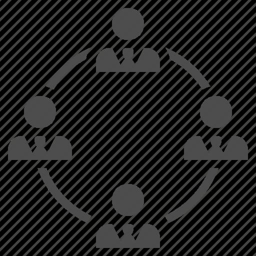 businessman, businessmen, man, men, network, people, team icon