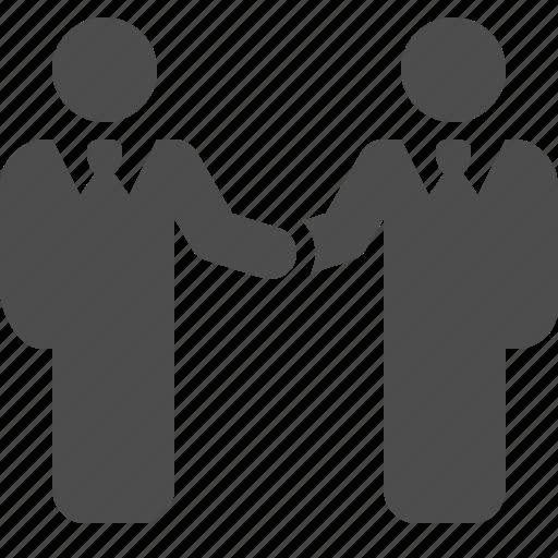 agreement, business, businessman, businessmen, deal, handshake, men icon