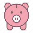 bank, deposit, finance, investment, money, pig, piggy bank icon