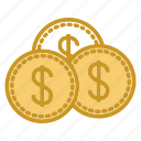 business, coin, dollar, gold, money icon