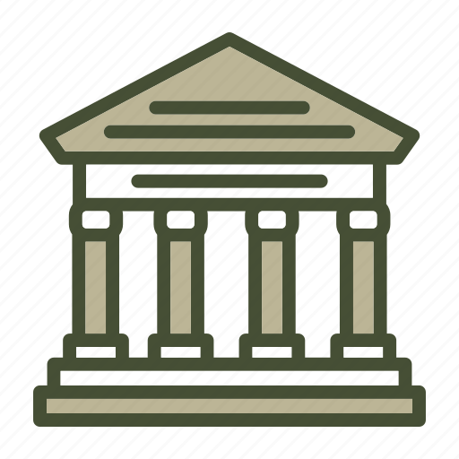 bank, business, courthouse, finance icon