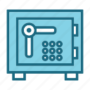 bank, bank locker, bank safe, locker, money box icon