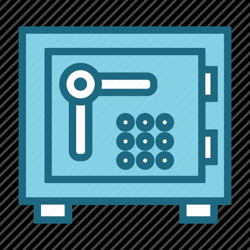 bank, bank locker, bank safe, locker, money box icon