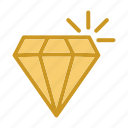 diamond, gemstone, gold, investment, jewelry icon