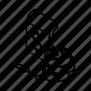 isometric, line, money, outline, receipt, voucher icon