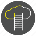 cloud, computing, data, forecast, storage, weather icon