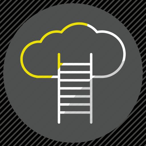 cloud, computing, data, forecast, storage, weather icon