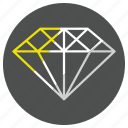 diamond, gem, jewel, jewelry, stone icon