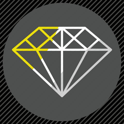 Diamond, gem, jewel, jewelry, stone icon - Download on Iconfinder