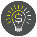 bulb, idea, lamp, seo icon
