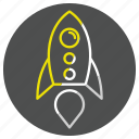 rocket, socket, space, spaceship, startup icon