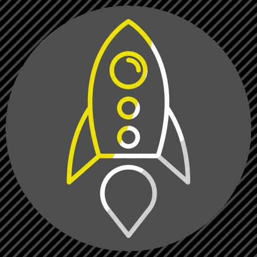 rocket, socket, space, spaceship, startup icon