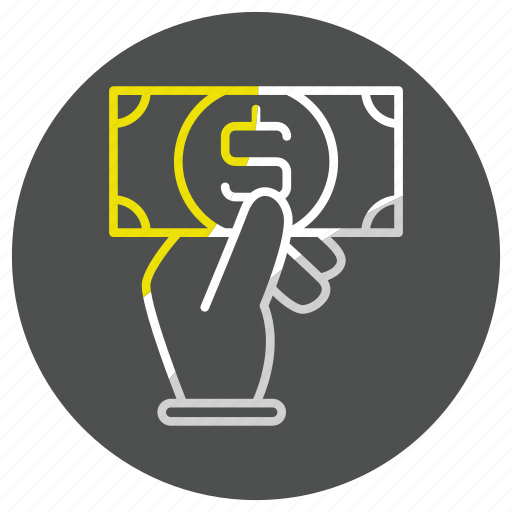 hand, money, payment, shop icon