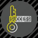 goal, key, success, successkey icon