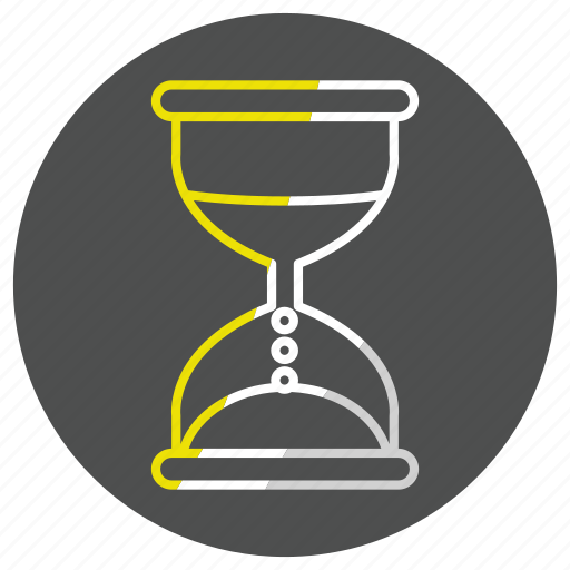 hourglass, timer, watch icon