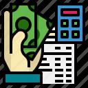bill, business, finance, hand, payment, tax, ticket