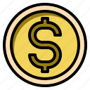 business, cash, coin, currency, dollar, money icon
