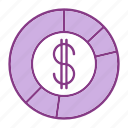bussiness, dollar, graph, management, marketing, money, statistics icon