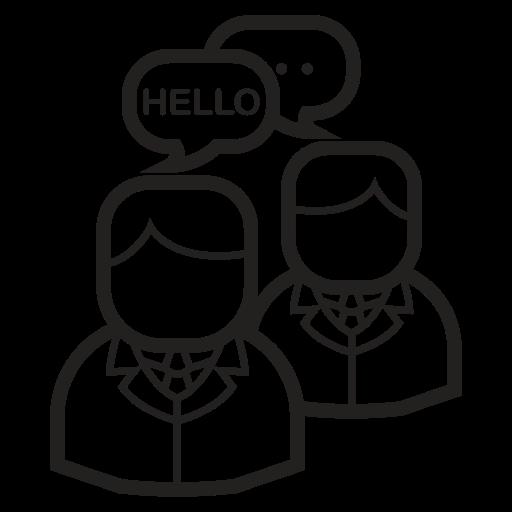 bussiness, communication, language, media, message, people, translation icon