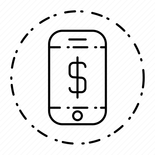 dollar, phone, smart, smartphone, technology icon
