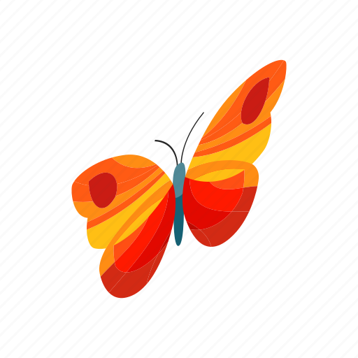 butterfly, colorful, insect, isometric, nature, summer, wing icon