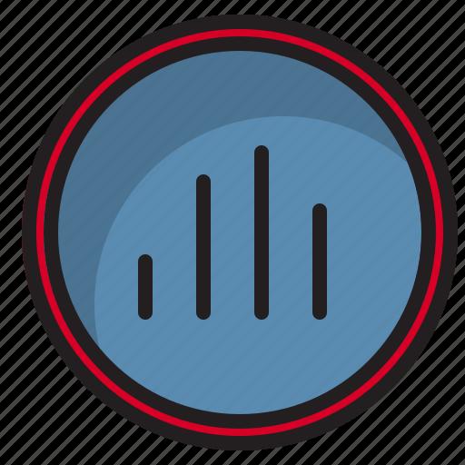 botton, computer, graph, interface icon