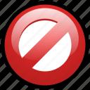 ban, block, cancel, close, delete, remove, stop icon