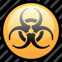alert, biohazard, caution, danger, error, toxic, warning icon