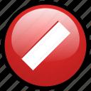 ban, block, cancel, close, delete, remove, trash icon