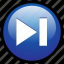 skip, forward, player, media, next, multimedia, play icon