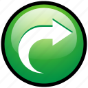 forward, next, open, refresh, reload, update, upload icon
